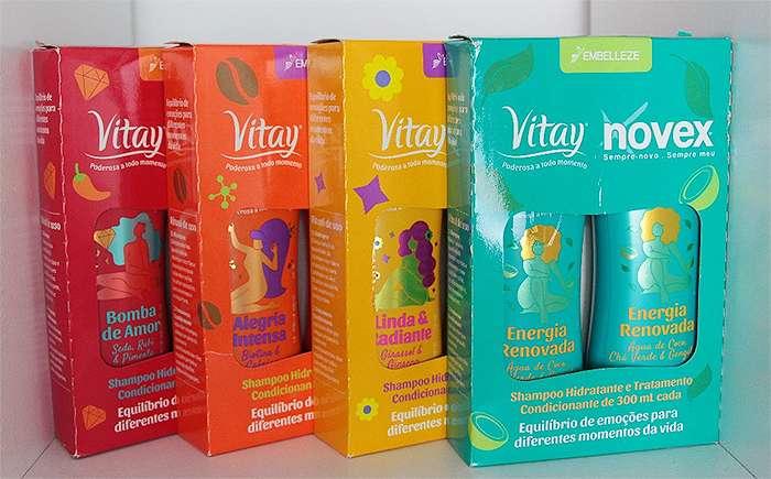 embelleze linha vitay shampoo e condicionador