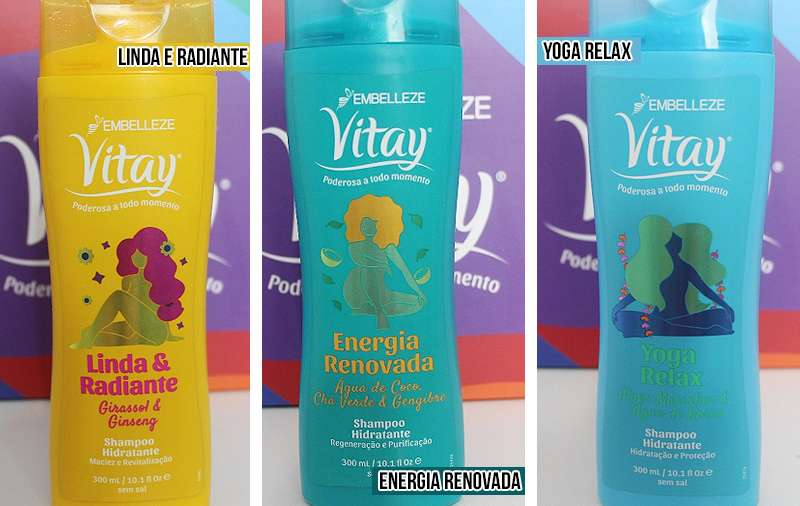 linha vitay novex resenha shampoos linda e radiante energia renovada yoga relax